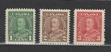 1935 #217 1¢ #218 2¢ & #219 3¢ KING GEORGE V PICTORIAL ISSUE F-VFNH