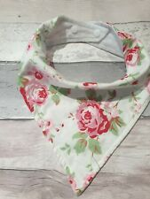 Bandana Dribble Drool Bib for Adults & Teens Special Needs - Floral Rosali White