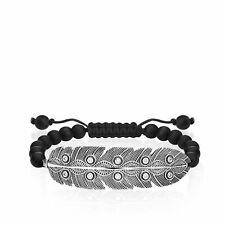 Thomas Sabo Armband Silber 925 Ethno FEDER schwarz Zirkonia LBA0138-810-11-L24v
