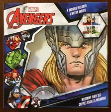 Marvel Avengers Melamine Plate Set 4pc Hulk Thor Iron Man Captain America - MIMP