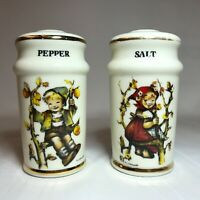 Vintage Hummel Ceramic Salt and Pepper Shakers Boy & Girl Made in Japan