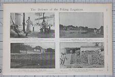 1900 PRINT DEFENCE OF PEKING LEGATIONS TARTAR CANAL BRITISH MARINES NORTH BRIDGE