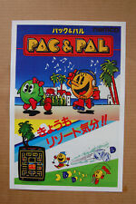 Pac & Pal Arcade Flyer Video Game promotional poster
