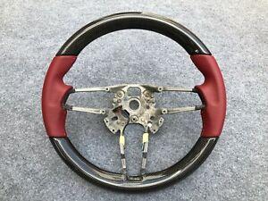 Porsche 991 Cayman Macan Cayenne Panamera OEM Carbon Steering Wheel BORDEAUX RED
