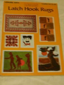 Learn Latch Hook Rugs Leisure Arts 12 Patterns Multiple Sizes Leaflet 90