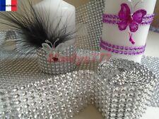 1Mx8 rangs**RUBAN STRASS DIAMANT**. décoration mariage baptême cérémonie,bijoux.