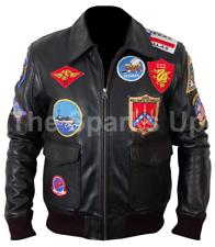 Top GUN MAVERICK Aviator Pilot elegante Tom Cruise Bombardero Chaqueta de cuero de desgaste