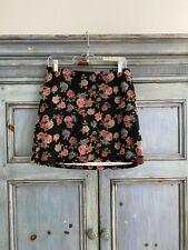 Betsey Johnson floral mini skirt size M NWT