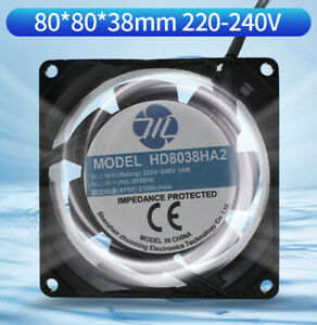 HD8038HA2 8CM Axial Fan 220V 8038 Cooling Fan Chassis Cabinet Cooling