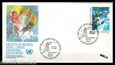 1988//FDC.ENVELOPPE 1°JOUR**SKIEURS-NATIONS UNIES-1400 VIENNE**TIMBRE..Y/T.85