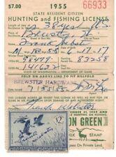 1955 RW22 Washington Hunting Fishing License Federal Duck Stamp free shipping