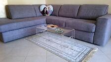Tavolino comodino da salotto in plexiglass design, H36xL68xP40 Spessore mm 8