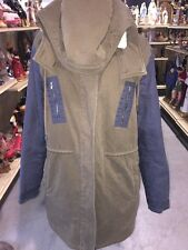 Lacoste Trench Sherpa Hooded Jacket Size 42
