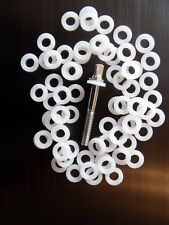 20 X White Nylon Drum Tension Screw/Rod Washer for Kits and Snare Drums