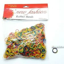 1 PACK COLOURFUL ELASTIC RUBBER BANDS SMALL 2 CM HAIR STYLING BRAIDS TIED PONY