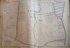 1898 Staten Island Grymes Hill E. Robinnson Original Atlas Map 22X32