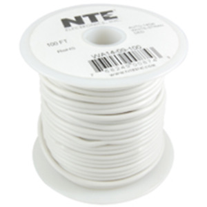 NTE Electronics  WA14-09-100 HOOK UP WIRE AUTO 14 GAUGE WHITE STRANDED 100'