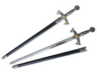 """38"""" 12th Century Templar Knight Medieval One Hand Sword with Scabbard"""