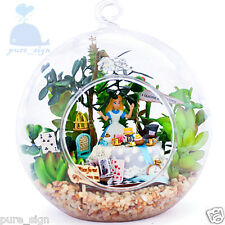 DIY Handcraft Miniature Dolls House LED Lights Alice's Forest Afternoon Tea