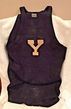 Spectacular YALE Bulldogs 1920s Antique Game Used Wool Worn Basketball Jersey