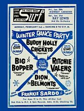 "Buddy Holly Winter Dance Party Surf Ballroom 16 x 12"" Photo Repro Concert Poster"