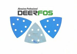 Delta Sanding Pads Film Sheets Triangle 90mm DEERFOS for Bosch 93mm 40-240