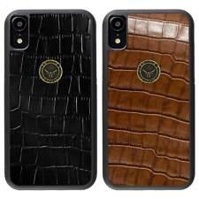 Apple iPhone XR Hülle Case Schutzhülle Echt Leder Back Cover Schale GAZZI KROKO