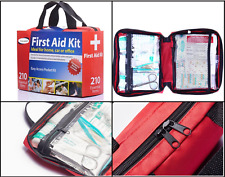 First Aid Kit Fully 210 Pc Stocked in  Medical Bag Trauma  Emergency Kit