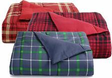 Martha Stewart QUEEN Comforter Essentials Reversible Plaid RED A03279