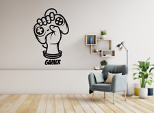 GAMER FIST VINYL WALL DECAL Lettering PS4 XBOX decal sticker by oracal