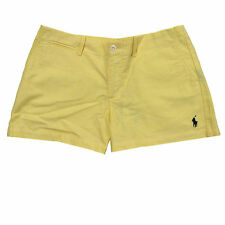 Polo Ralph Lauren Shorts Pony Logo Womens Sport Solid Chino 3.5 Inch Oxford New