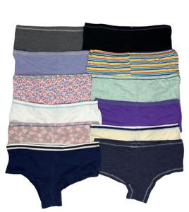 6 Pack Women's Underwear Hipster Boy Shorts Brief Hi- Cut Cotton Super Soft S-XL