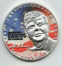 JFK Silver Coin Autographed 1917 1963 Shot Dead Murdered Conspiracy Theory USA