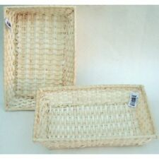 "osier rectangulaire paniers/trays-set/3 baskets-sizes 8 "", 10 "", 30.5CM (20,25,"