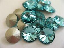 12 Light Turquoise Foiled Swarovski Crystal Rivoli Stone 1122 39ss 8mm