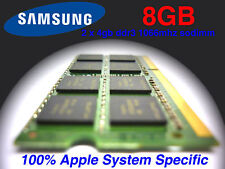 8GB 2x 4GB DDR3 1066MHz Memory iMac Mac MacBook Pro Ram Samsung original memory