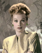 "LUCILLE BALL HOLLYWOOD ACTRESS & COMEDIENNE 8x10"" HAND COLOR TINTED PHOTOGRAPH"