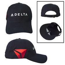 DELTA Air Lines Navy Baseball Hat NEW WIDGET LOGO Adjustable cap SkyTeam