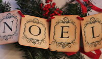 NOEL-Christmas Garland-Banner-Decoration-Vintage Style-Beautiful-Unique-Handmade