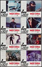 DANGER DIABOLIK 11x14 set JOHN PHILLIP LAW/MARIO BAVA orig lobby card posters