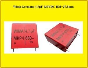 Wima Germany MKP4 PP Polypropylene Folien Kondensator 4,7µF 630V DC 108 Stück