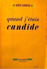 ++ODETTE PANNETIER quand j'étais Candide - souvenirs 1948 Julliard RARE++