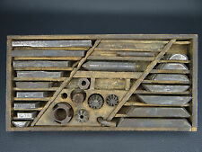 Antique Vintage Machinist Milling Thread Cutter Set in Wooden Box