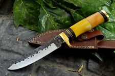 BDS CUTLERY Custom Made Hand Forged Railroad spike Hunting Bowie knife - UK-01