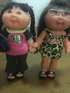 2 Cabbage Patch Kids CPK Vinyl Dolls 1997 22 Cms