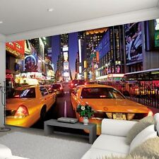 NEW YORK TIMES SQUARE WALL MURAL FEATURE WALL NEW FREE P+P