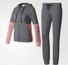 Adidas mujer Marker Zip Hoody Chándal Ligero Rosa Gris Reino Unido 2XS 0-2