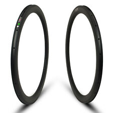 lightest 50mm high 25mm wide clincher road bike carbon rims only 450g one piece
