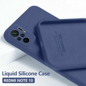 For Xiaomi Mi 11 10T 10 Redmi Note 10 9 8 7 Pro Soft Liquid Silicone Case Cover