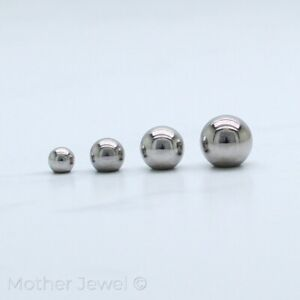 SILVER TITANIUM BELLY BODY JEWELLERY LABRET EYEBROW 16G SPARE REPLACEMENT BALL